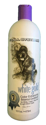 #1 ALL SYSTEMS WHITE GOLD COLOUR ENHANCING BOTANICAL DOG AND CAT CONDITIONER 473ml