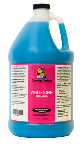 ANIMAL HOUSE GROOMERS SELECTION WHITENING SHAMPOO for Dogs and Cats - 3.79 litres (1 Gallon)