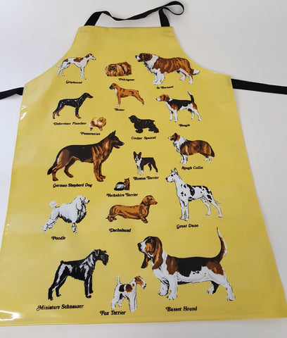 GROOMING APRON - YELLOW WITH DOG DESIGN