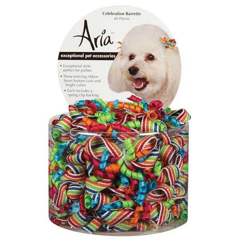 ARIA CELEBRATION DOG BARETTES CANISTER 40