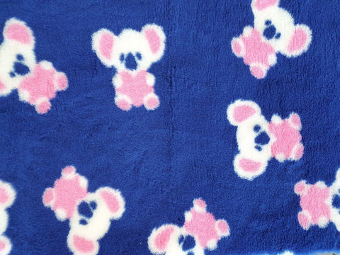VET BED - RUBBER BACKED - CUTE KOALA (NAVY, CREAM, PINK)