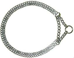 "HERM SPRENGER MARTINGALE CHAIN DOG COLLAR - 8"" NECK"