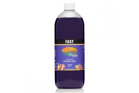 "PLUSH PUPPY ""FAST"" BLOW DRY SPRAY FOR DOGS - 1 LITRE REFILL"