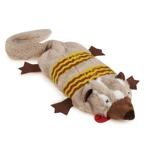GRIGGLES UNSTUFFIES DOG TOY - BADGER