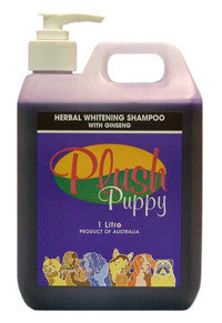 PLUSH PUPPY HERBAL WHITE SHAMPOO/GINSENG 1LTR