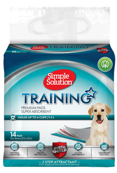 SIMPLE SOLUTION PREMIUM TRAINING PUPPY PEE PADS (pack of 14)