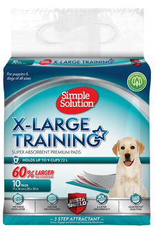 SIMPLE SOLUTION SUPER ABSORBENT PREMIUM TRAINING PUPPY PEE PADS (pack of 10) - X-LARGE
