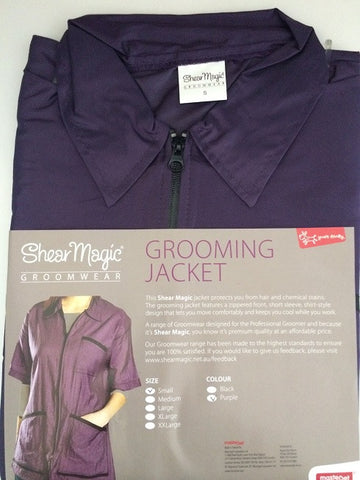 SHEAR MAGIC GROOMING JACKET PURPLE MEDIUM SIZE 12-14