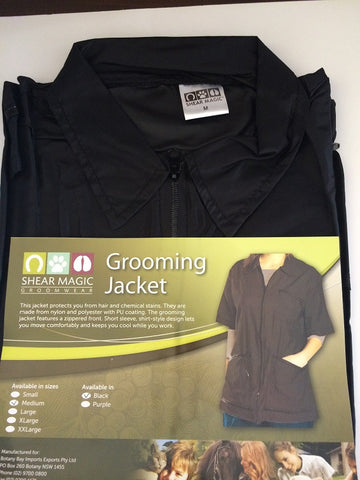 SHEAR MAGIC GROOMING JACKET BLACK SMALL SIZE 8-10