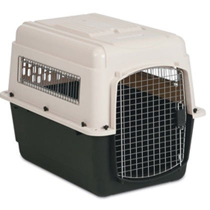 VARI KENNEL INTERMEDIATE - CREAM/BLACK - 80X55X57CM - PICK UP IN STORE ONLY
