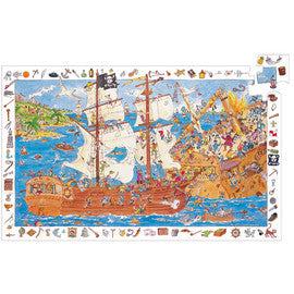 Djeco Puzzle - Pirate 100 Piece