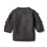 Jumper Storm Grey with Baubles