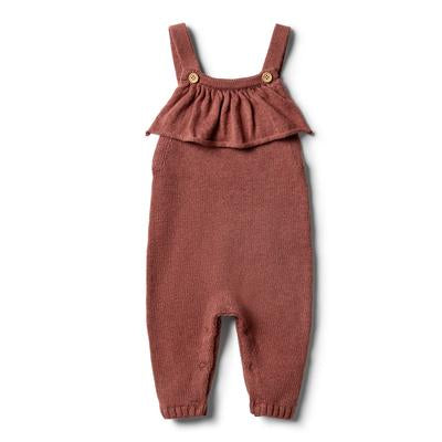 Overall Marl Knitted Ruffle
