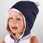 Teddy Fleecy Beanie Denim