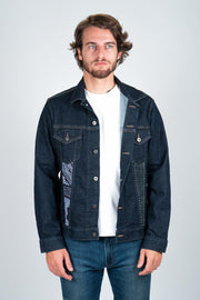 Denim Jacket with Yukata Cotton Patches