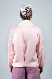 Floral Pink Reversible Jacket - Back View