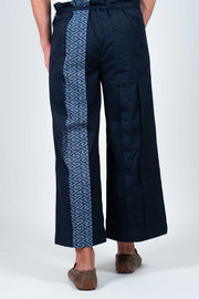 Japanese Cotton and Vintage Yukata Trousers - Back View