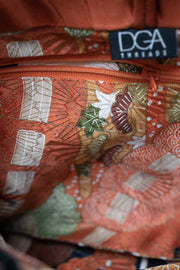 Japanese Vintage Silk Clutch with Seawaves - Details
