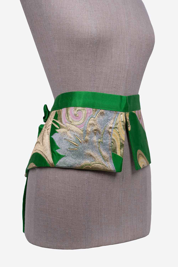 Two Flaps Silk Reversible Belt - Side View
