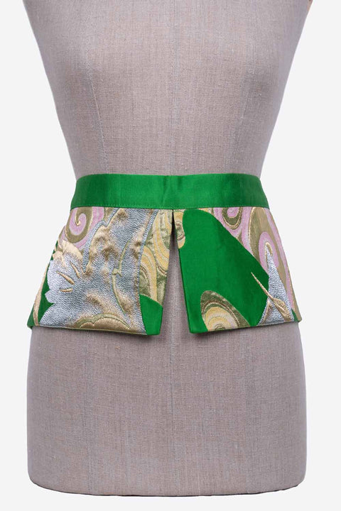 Two Flaps Silk Reversible Belt