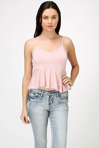 Sunset Peplum Crop Top