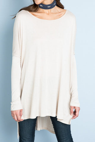 Haylee High Low Oversized Tee