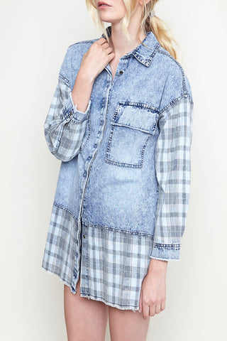 Main Street Denim Button Down