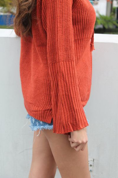 Highland Lace Up Sweater