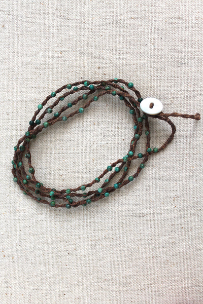 Tied to the Sea Chinese Turquoise Wrap Bracelet