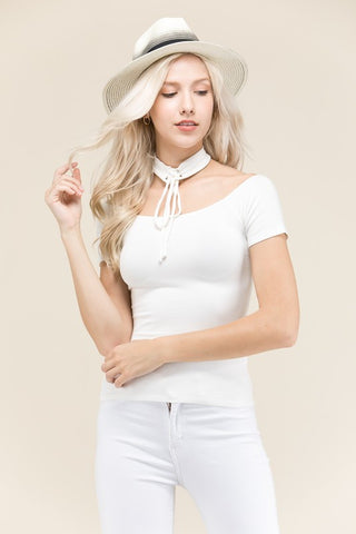 White Lies Choker Top