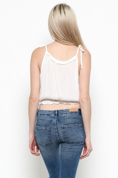 Regina Ruffled Crop Top