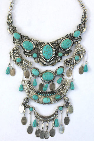 Aztec Adventurer Statement Necklace
