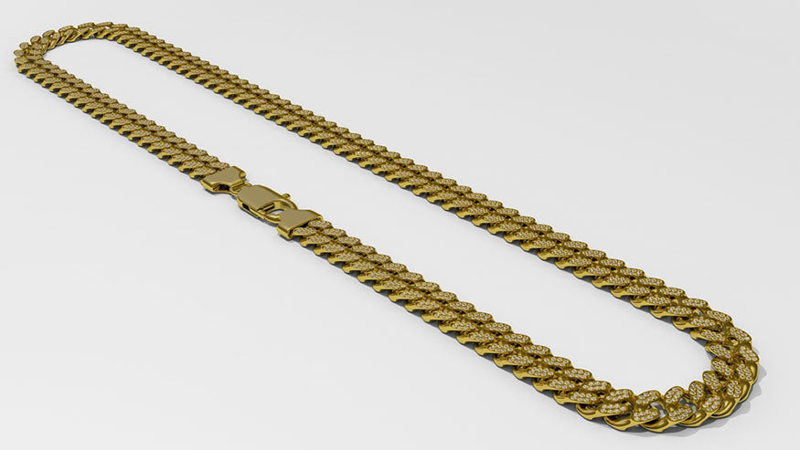 cuban gold link chain necklace