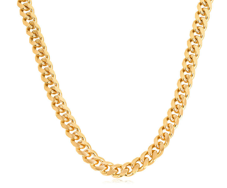 isolated gold link chain
