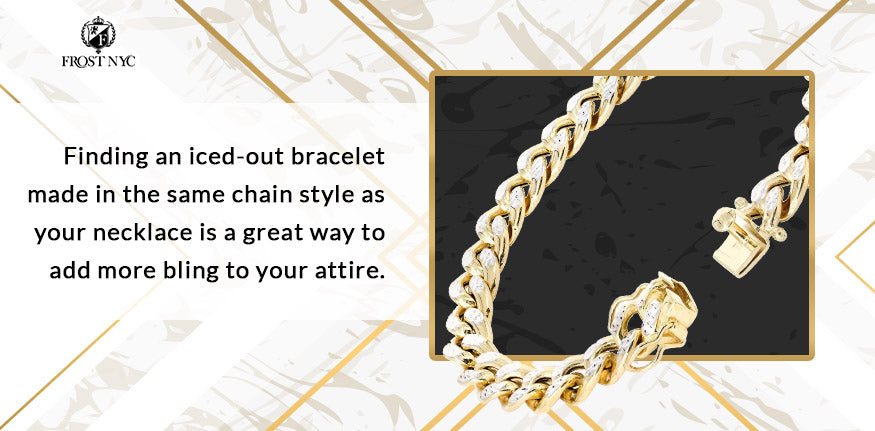 iced out bracelet chain graphic