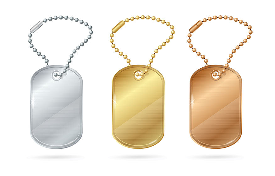 illustration of dog tag trio