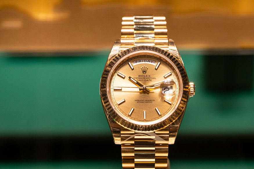 gold luxury rolex watch