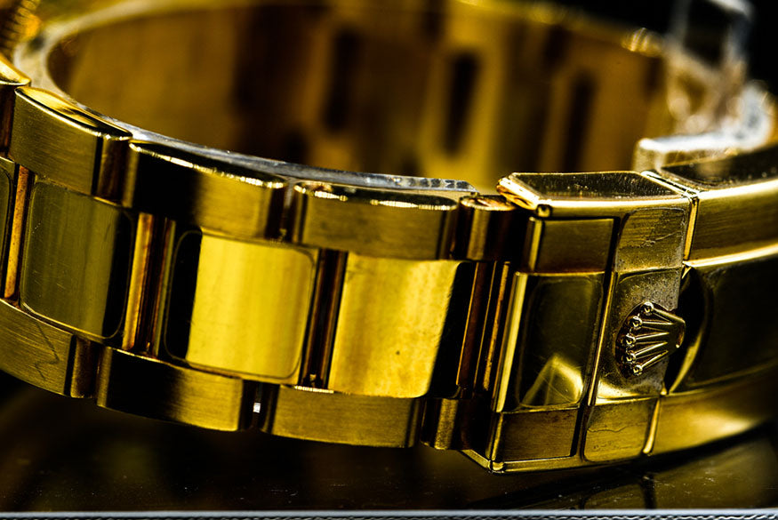 gold rolex bracelet watch