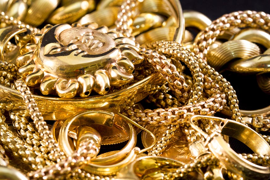 variety of gold jewelry