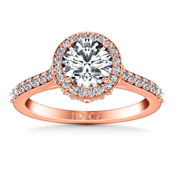 Halo Diamond Engagement Ring Milana 14K Rose Gold