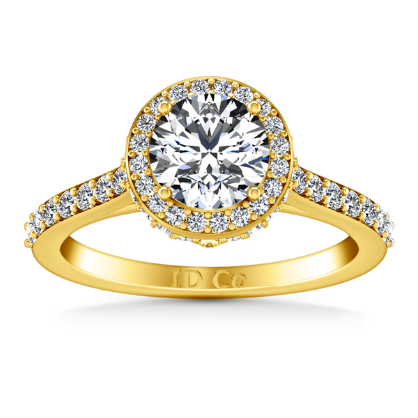 Halo Diamond Engagement Ring Milana 14K Yellow Gold