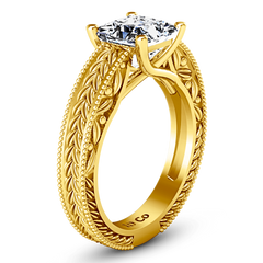 Solitaire Diamond Engagement Ring Rowan 14K Yellow Gold
