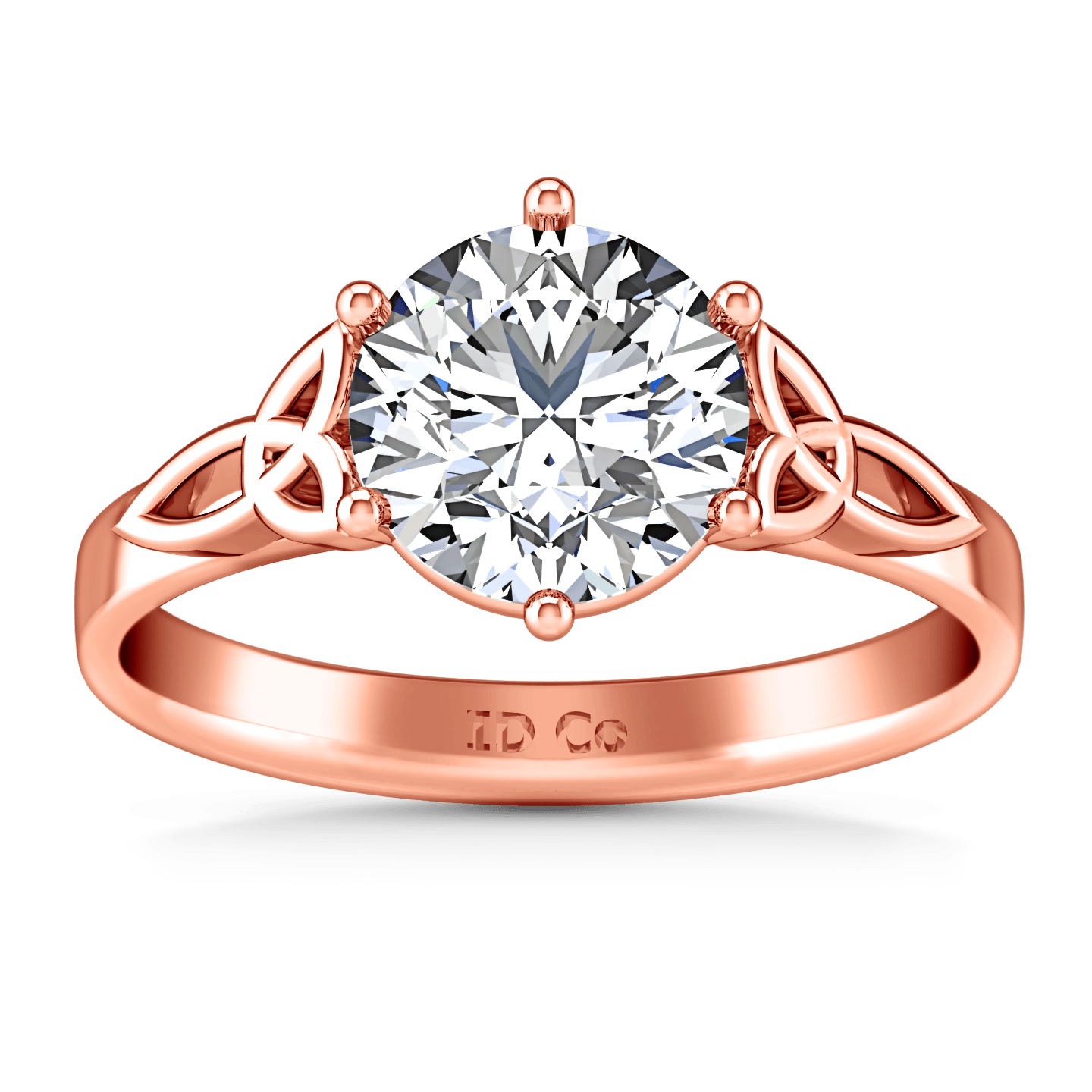 Engagement Rings Knot: Solitaire Diamond Engagement Ring Fiona Celtic Knot 14K