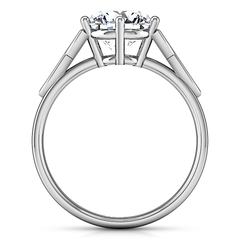Round Diamond Solitaire Engagement Ring Fiona Celtic Knot 14K White Gold engagement rings imaginediamonds