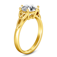 Solitaire Diamond Engagement Ring Fiona Celtic Knot 14K Yellow Gold engagement rings imaginediamonds