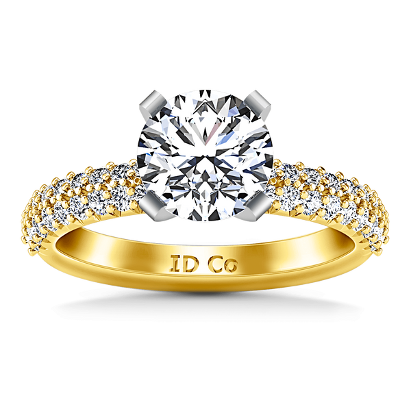 Pave Diamond EngagementRing Gardenia 14K Yellow Gold