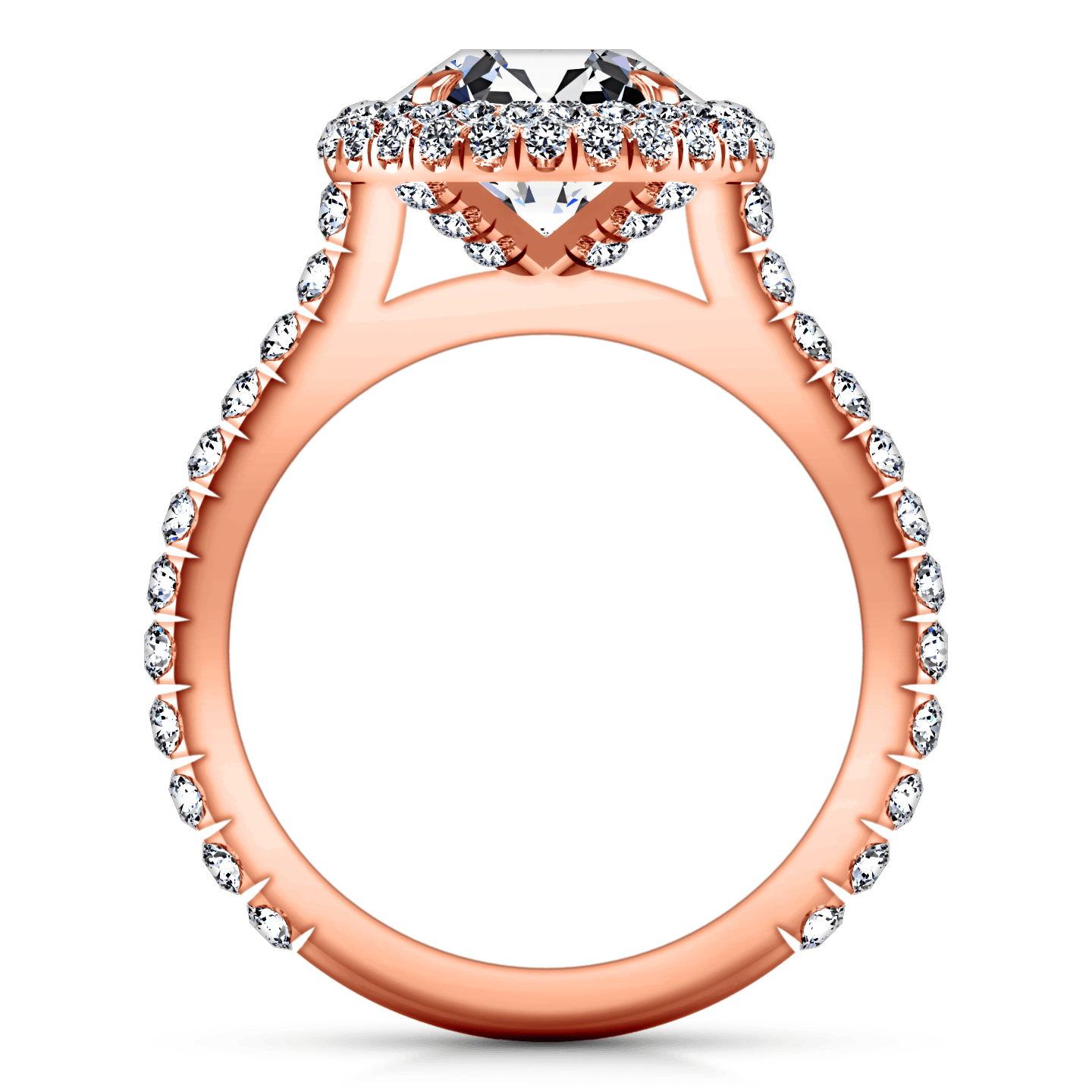 Halo Diamond Engagement Ring Blossom 14K Rose Gold – FrostNYC
