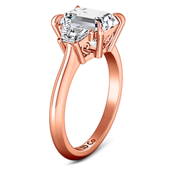Three Stone Cushion Cut Engagement Ring Celesse 14K Rose Gold engagement rings imaginediamonds