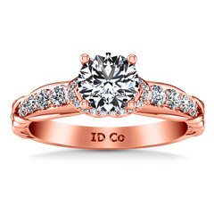Pave Diamond Engagement Ring Flora 14K Rose Gold engagement rings imaginediamonds