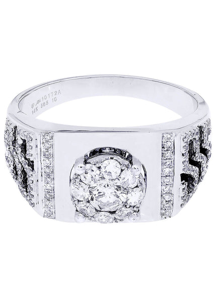 Mens Diamond Ring| 0.89 Carats| 7.35 Grams